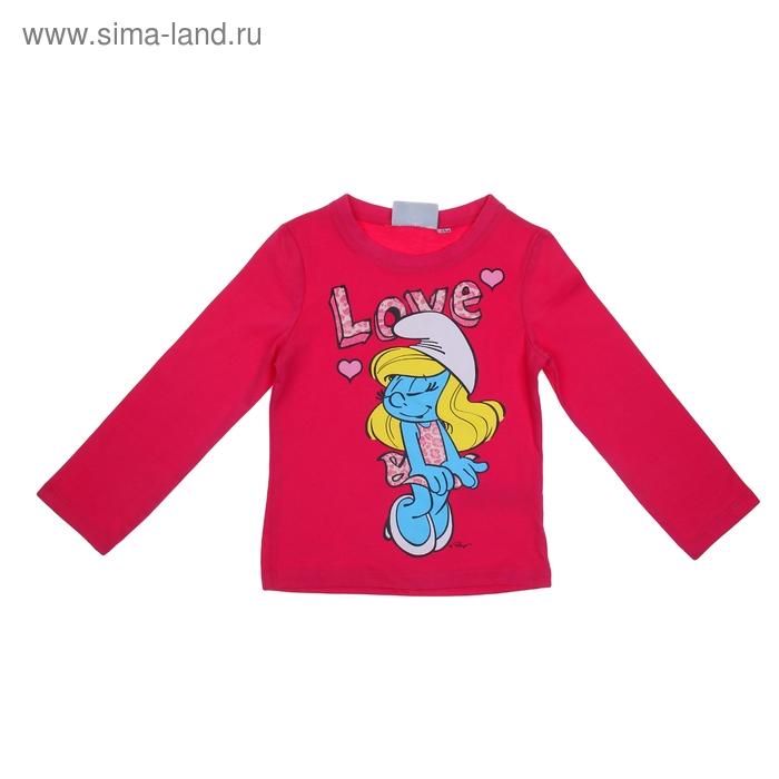"""Джемпер для девочки """"Smurfs"""", рост 104 см (4 года), цвет розовый"""