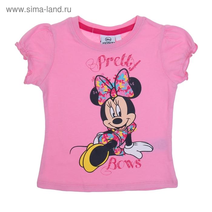 """Футболка для девочки """"Disney Minnie"""", рост 92 см (2 года), цвет розовый"""