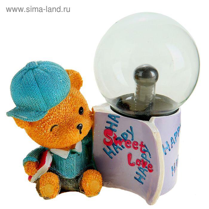 """Плазменный шар """"Мишка в кепке"""""""