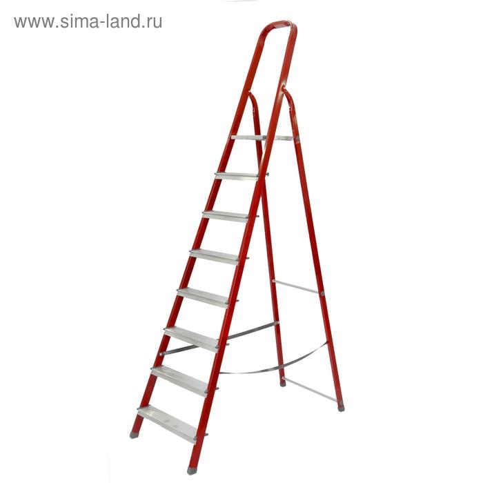 """Стремянка """"Доляна"""" комбинированные окрашенные, 8 ступеней"""