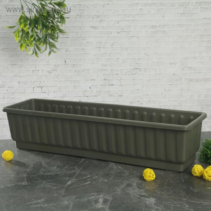 Ящик для цветов серый