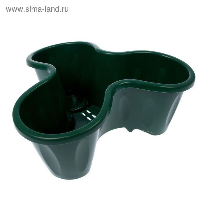 Кашпо многоярусное, 1 ярус, цвет темно-зеленый