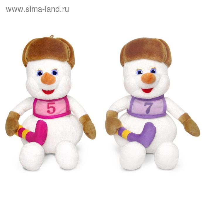 Мягкая игрушка «Снеговик-хоккеист» музыкальная