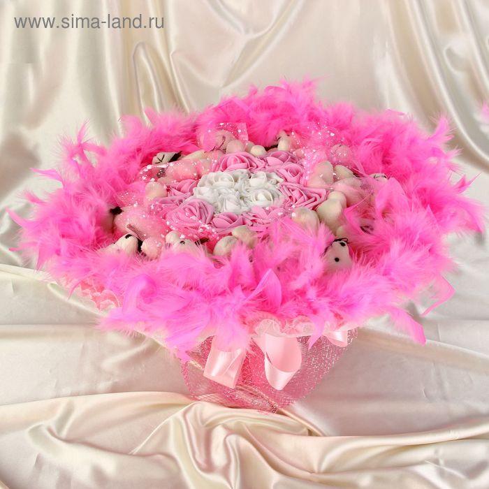 """Букет из игрушек """"Букет любви"""" розовый"""