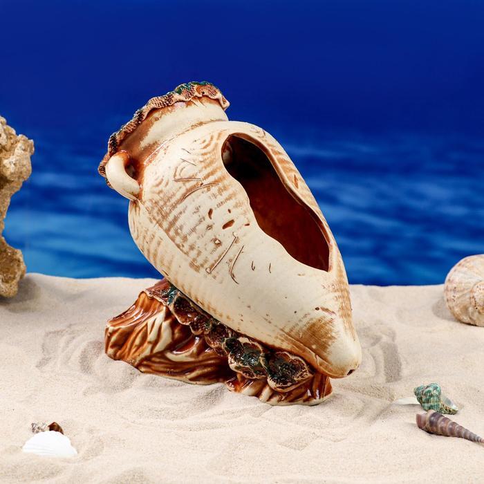 "Декорации для аквариума ""Амфора на скале"""