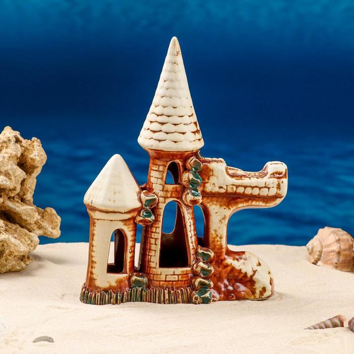 """Декорации для аквариума """"Крепостная стена"""" микс"""