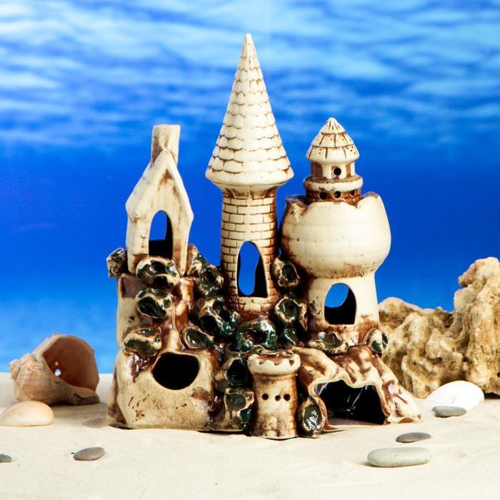 """Декорации для аквариума """"Замок"""" средний, микс"""