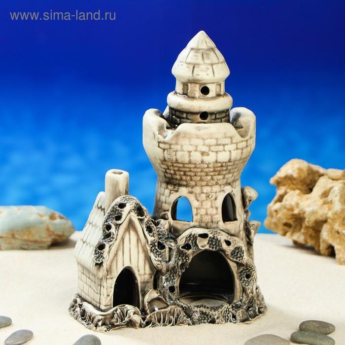 """Декорации для аквариума """"Башня с домиком"""" микс"""