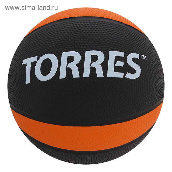 """Медбол """"TORRES 2 кг"""", арт.AL00222, резина, диаметр 19,5 см, черно-оранжево-белый"""