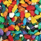 """Грунт для аквариума """"Мраморная крошка разноцветная блестящая"""" 5-10 мм, 1 кг 380010"""