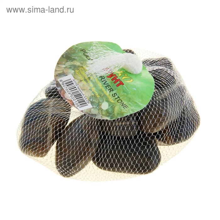 Галька полированная тигровая 3-5 см, 1 кг А-1118