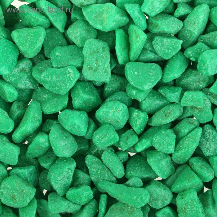 "Грунт для аквариума ""Мраморная крошка зеленая блестящая"" 5-10 мм, 1 кг 530019"