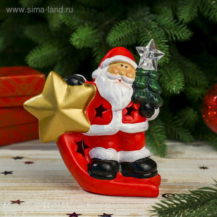 """Сувенир """"Дед Мороз с ёлочкой и звездой"""" световой"""