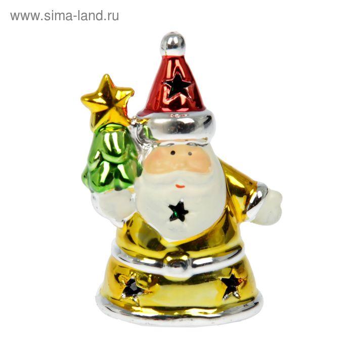 """Сувенир """"Дедушка Мороз в золотой шубке"""" световой"""