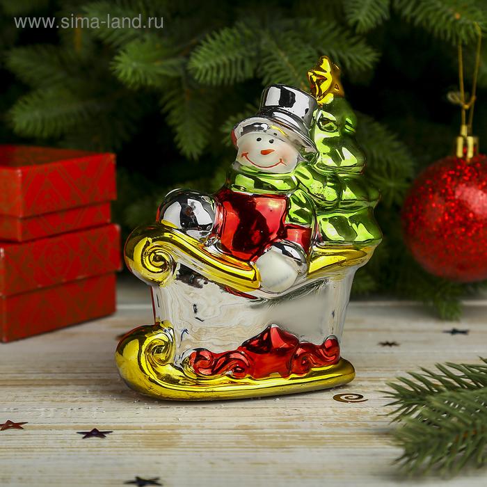 "Сувенир ""Снеговик в санях"""
