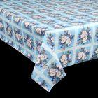 """Клеенка столовая на ткани, ширина 125 см, толщина 1 мм """"Букет ромашек"""", рулон 25 м"""