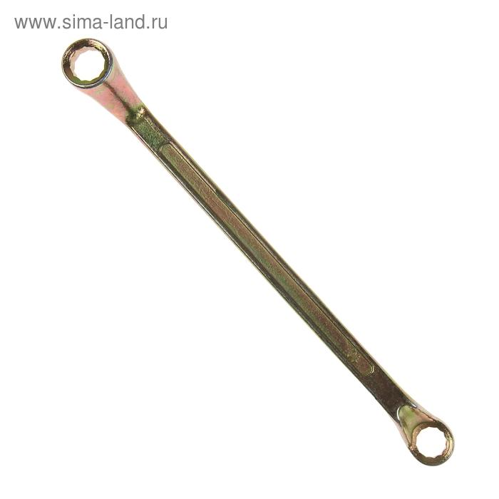 Ключ гаечный, накидной TUNDRA basic, желтый цинк, 10х11 мм
