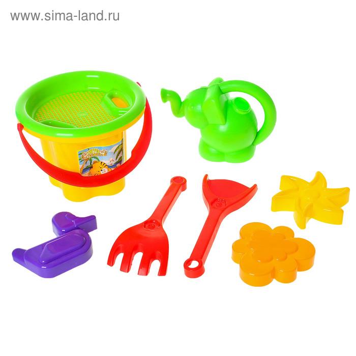 """Песочный набор """"Цветочек"""" с лейкой, 8 предметов, МИКС"""