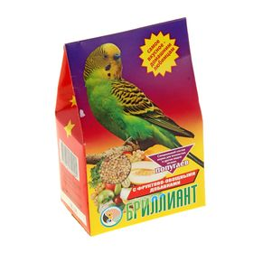 "Корм для попугаев ""БРИЛЛИАНТ"" с фруктово-овощными добавками, 400 гр"