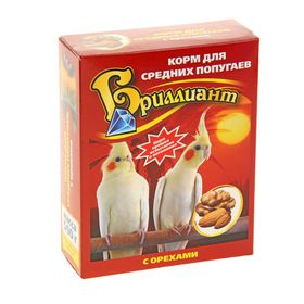 Корм для средних попугаев 'Бриллиант люкс' с орехами, 500 гр Ош