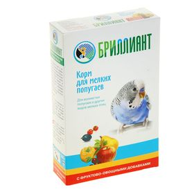 Корм для мелких попугаев 'БРИЛЛИАНТ Classic New' с фруктово-овощными добавками, 500 гр Ош