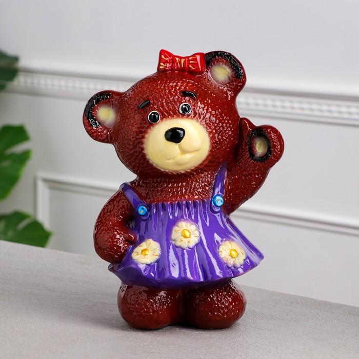 """Копилка """"Медведица в платье"""" глянец, коричневая, микс"""