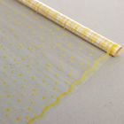 """Пленка для цветов и подарков """"Горох с каймой"""" желтый 0.7 х 7 м, 40 мкм"""