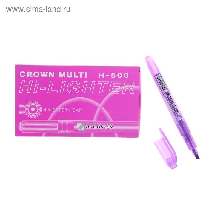 Маркер-Текстовыделитель H-500, фиолетовый, 4мм