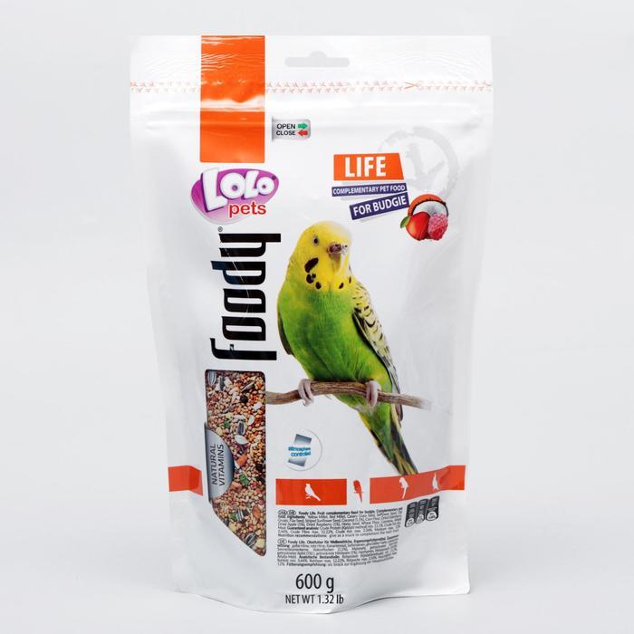 Корм для волнистых попугаев LoLo Pets фруктовый, дойпак 600 гр