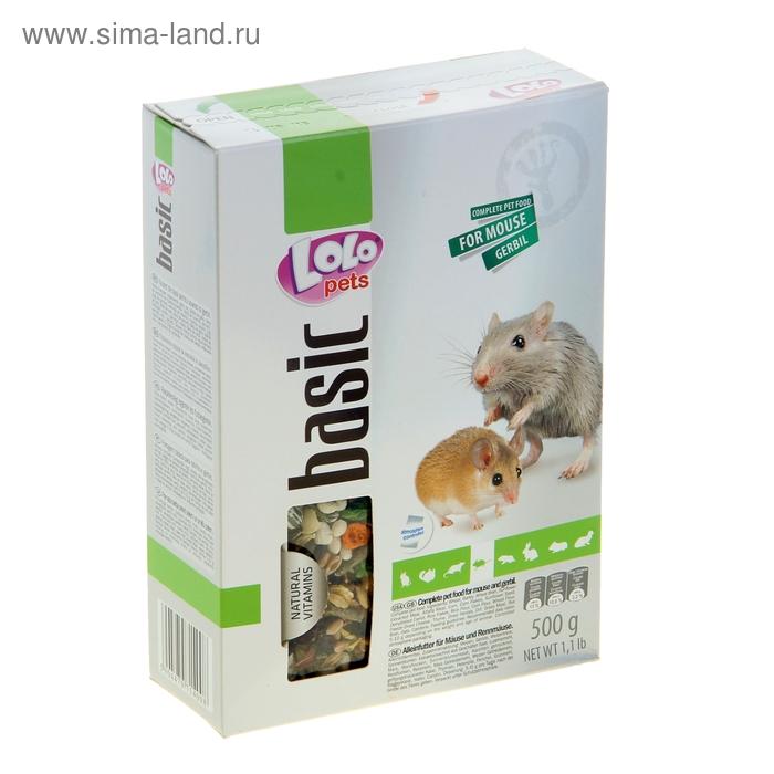 Корм для мышей и песчанок LoLo Pets полнорационный 500 гр