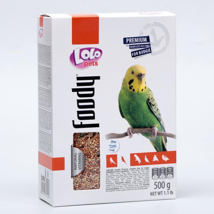 Корм для волнистых попугаев LoLo Pets полнорационный 500 гр