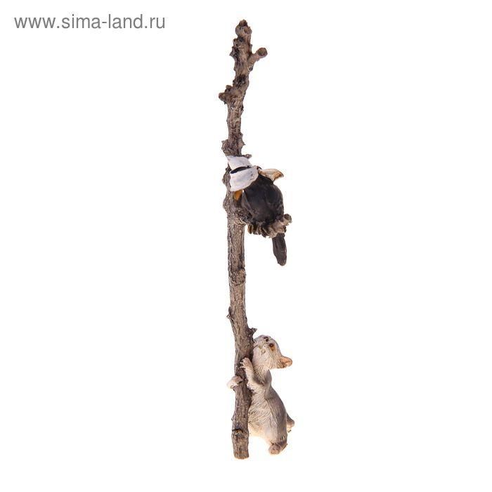 """Сувенир """"Котёнок и ворона на дереве"""""""