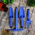 Набор посадочный из 4-х предметов в футляре-сумке (рыхлитель, тяпка, совок большой, совок малый)