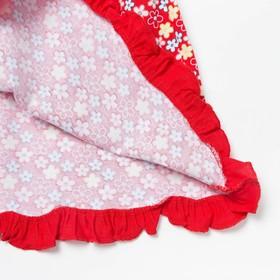 Платье с коротким рукавом для девочки, рост 80 см (12 мес), цвет микс/набивка Л365