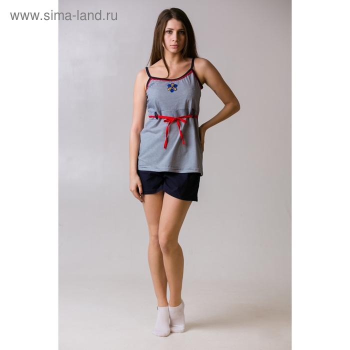 Комплект женский (топ, шорты) Кира МИКС, р-р 48
