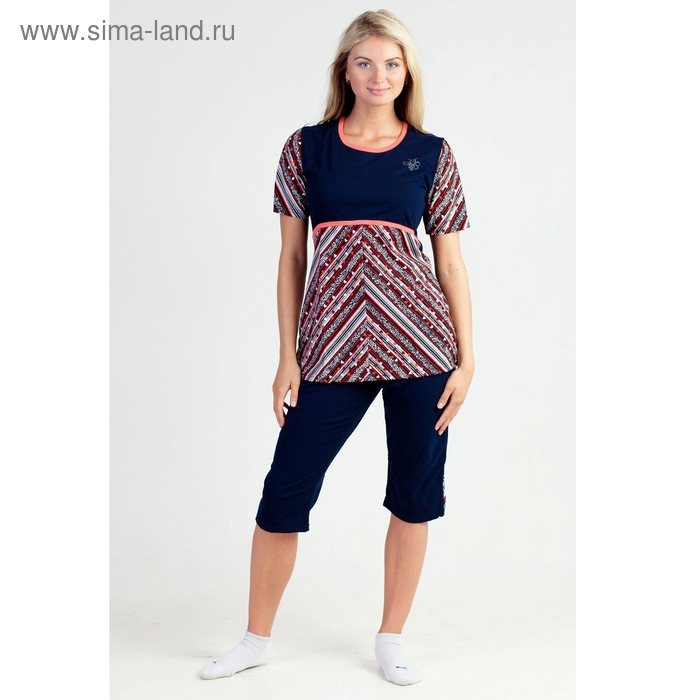 Комплект женский (туника, бриджи) Полина МИКС р-р 52