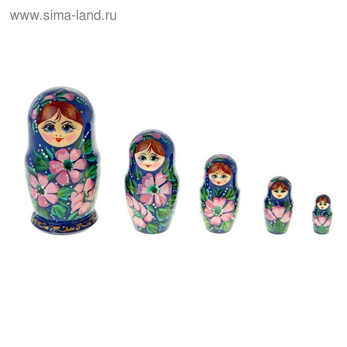 """Матрешка """"Сиреневые цветы"""" 5 кукол, художественная роспись"""