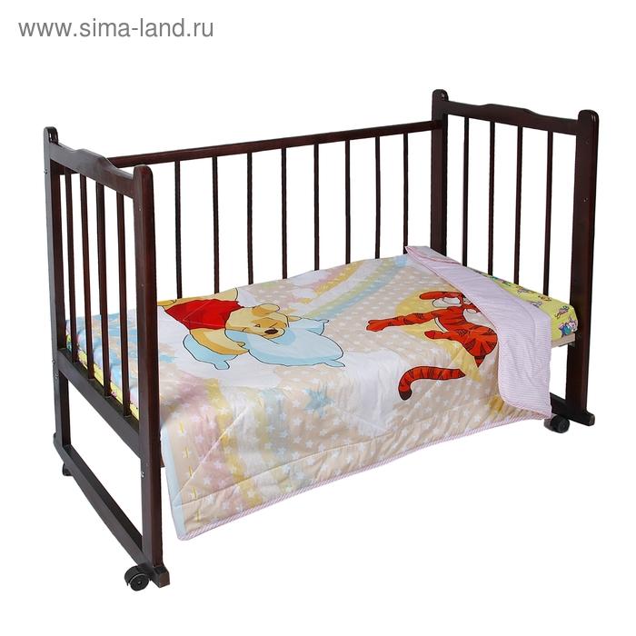 """Одеяло облегченное Disney """"Винни на радуге"""", размер 105х140 ± 5 см, 200 гр/м2"""