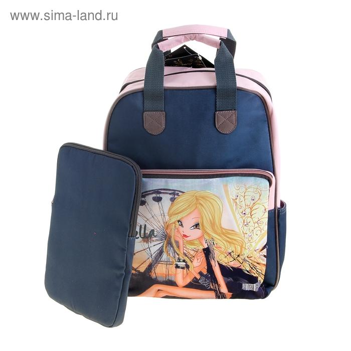 Рюкзак школьный Winx Fairy Couture 38*29*12 сумка, для девочки, синяя