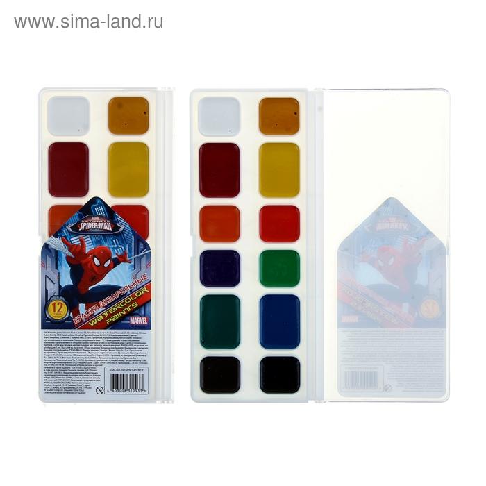 Акварель медовая 12 цветов Spiderman