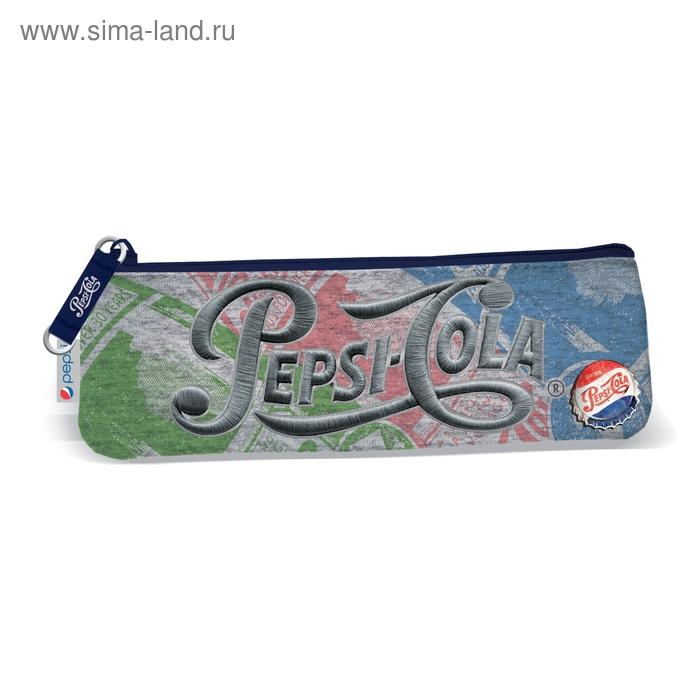 Пенал мягкий 1 отделение плоский 60*210 мм Pepsi