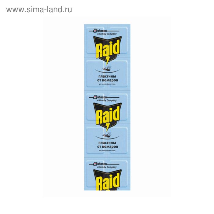 Пластины от комаров Raid регулярные 10 шт