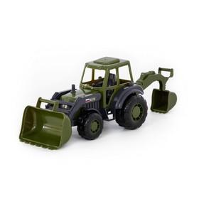 """Трактор-экскаватор """"Мастер"""" военный"""