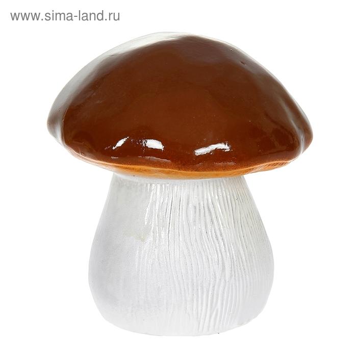 """Садовая фигура """"Гриб"""" коричневая шляпка"""