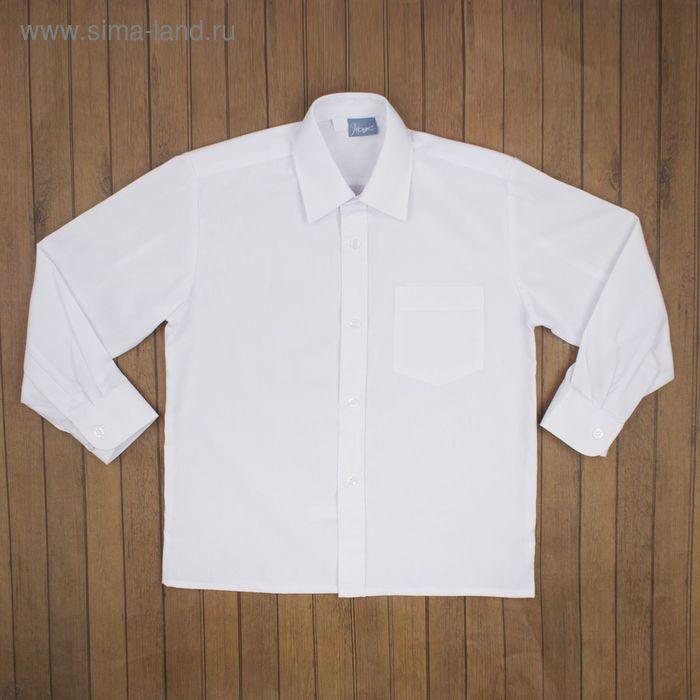 Сорочка для мальчика, рост 158-164 см (35), цвет белый 181Б