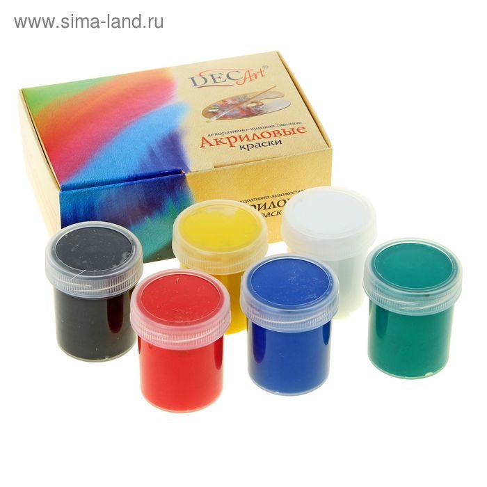 Краска акриловая набор 6 цветов *40мл DecArt
