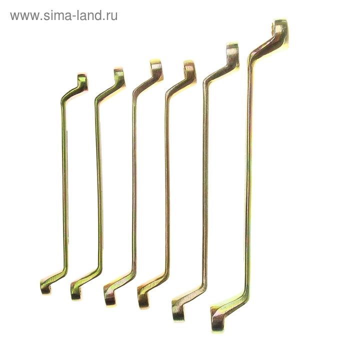 Набор ключей накидных TUNDRA basic, холдер, желтый цинк, 6 шт, 8-19 мм