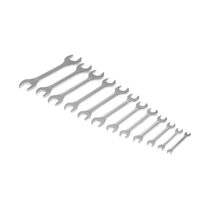 Набор ключей рожковых TUNDRA basic, хромированный, 12 шт, 6-32 мм
