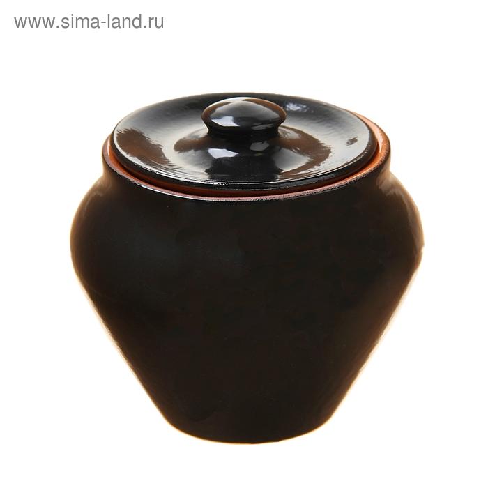 Горшочек для запекания чёрный янтарь 0,25 л