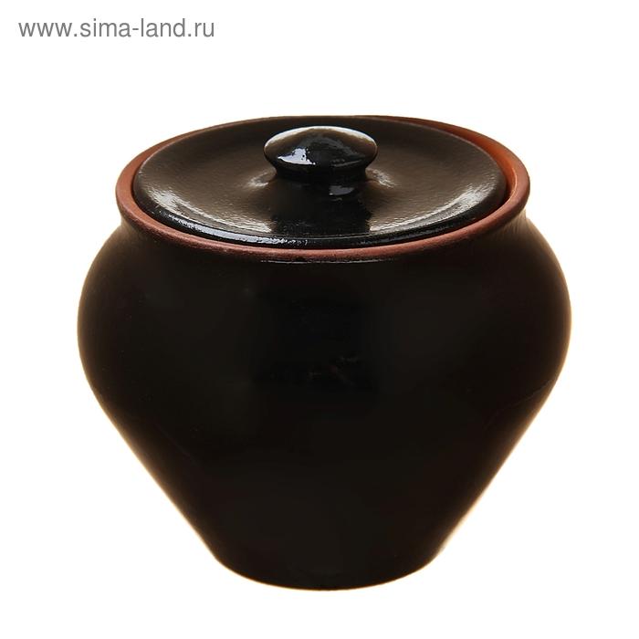 Горшочек для запекания чёрный янтарь 0,5 л